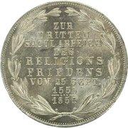 2 Gulden (300ème anniversaire de paix religieuse) – revers