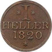 1 Heller (Judenpfennig) – avers