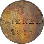 1 Wiener (Judenpfennig) – revers
