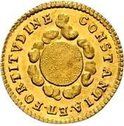 ¼ Ducat (Coronation) – revers