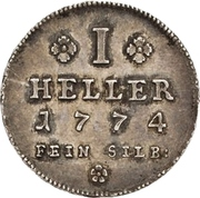 1 Heller (Silver pattern strike) – revers