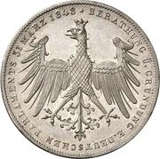 2 Gulden (Constitutional Convention; Zwittertaler) – avers