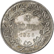 2 Gulden (Constitutional Convention; Zwittertaler) – revers