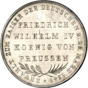 2 Gulden (Imperial election of Friedrich Wilhelm IV.) – revers