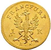1 Kreuzer (Gold pattern strike) – avers