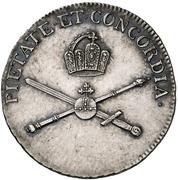 ¾ Ducat (Silver pattern strike; Coronation) – revers