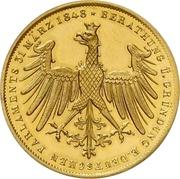 2 Gulden (Gold pattern strike; Goethe Centennial) – avers
