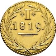 1 Pfennig (Gold pattern strike; Judenpfennig) – revers