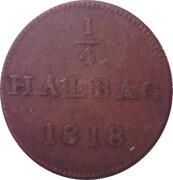 ¼ halbag (judenpfennig) – revers