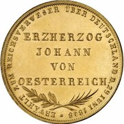 2 gulden (Frappe essai en or) – revers