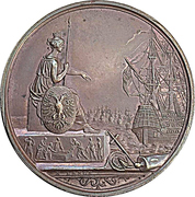 Medal - Founding of the German fleet at Frankfurt – avers