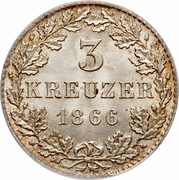 3 Kreuzer – revers