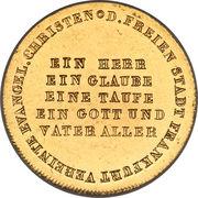 1 ducat (300ème anniversaire de la Réformation) – avers