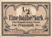 1/2 Mark (Fraustadt) – avers
