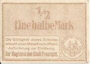 1/2 Mark (Fraustadt) – revers