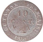 10 centimes - Louis XVIII – revers