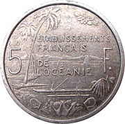 5 francs (E.F.O.) – revers