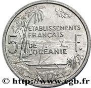 5 francs (E.F.O., essai) – revers