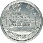 1 franc (piefort essai) – revers