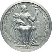 2 francs (piefort essai) – avers