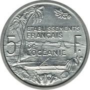 5 francs (piefort essai) – revers