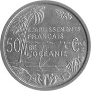 50 centimes (E.F.O., essai) – revers