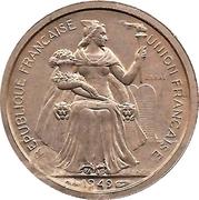 1 franc (E.F.O., essai) – avers