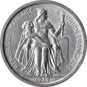 2 francs (E.F.O.) – avers