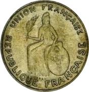 2 francs (Essai, avec listel) – avers