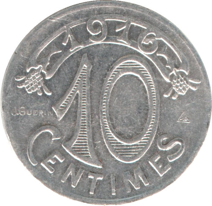 10 centimes - chambre de commerce - marseille [13] - france