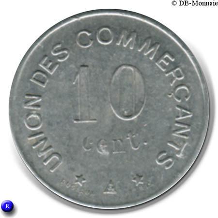 10 centimes union des commer ants carcassonne 11 france notgeld numista. Black Bedroom Furniture Sets. Home Design Ideas