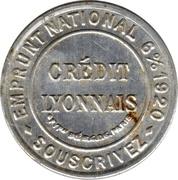 5 centimes Crédit lyonnais – avers