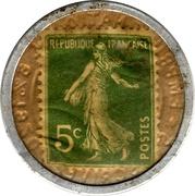 5 centimes Crédit lyonnais – revers