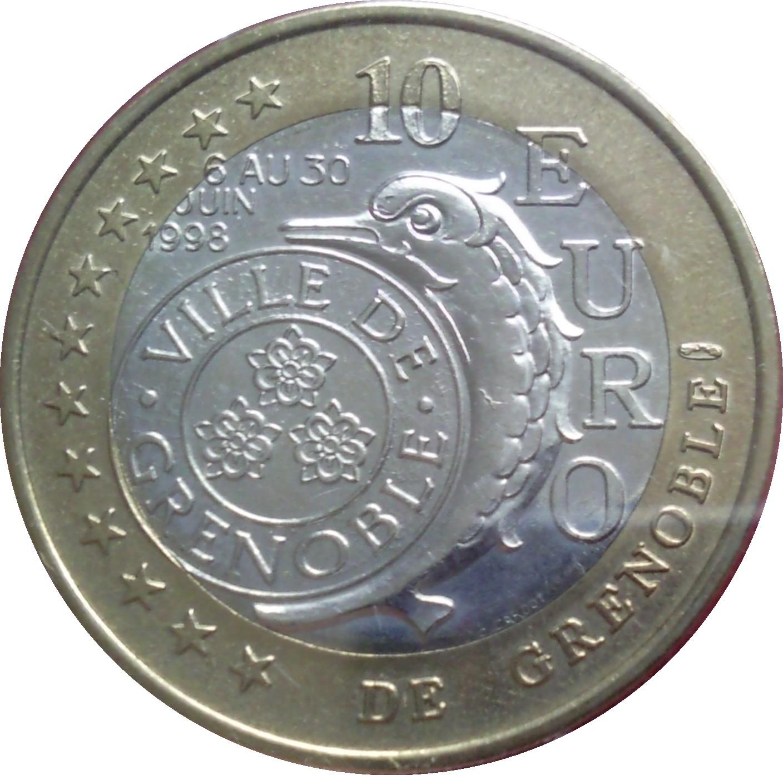 10 Euros De Grenoble 38 France Villes Et R Gions