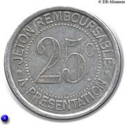 25 Centimes Syndicat de l'alimentation en Gros de l'Hérault [34] -  revers