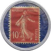 10 centimes - Société Générale – revers