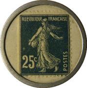 25 centimes - Société Générale – revers