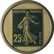 25 centimes -  Crédit Lyonnais – revers