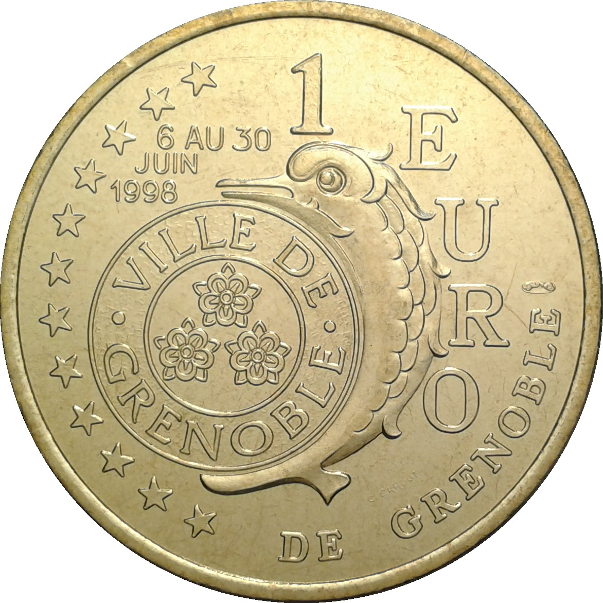 1 Euro De Grenoble 38 France Villes Et R Gions Numista