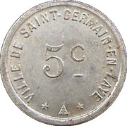 5 Centimes - Ville de Saint Germain en Laye [78] – avers