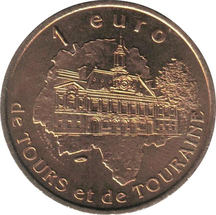 1 euro de tours et de touraine maisons colombages 37 france villes et r gions numista. Black Bedroom Furniture Sets. Home Design Ideas