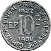 10 centimes - Comité régional - Toulouse [31] -  revers