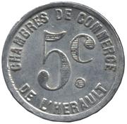5 Centimes Chambres de commerce de l'Herault [34] – revers