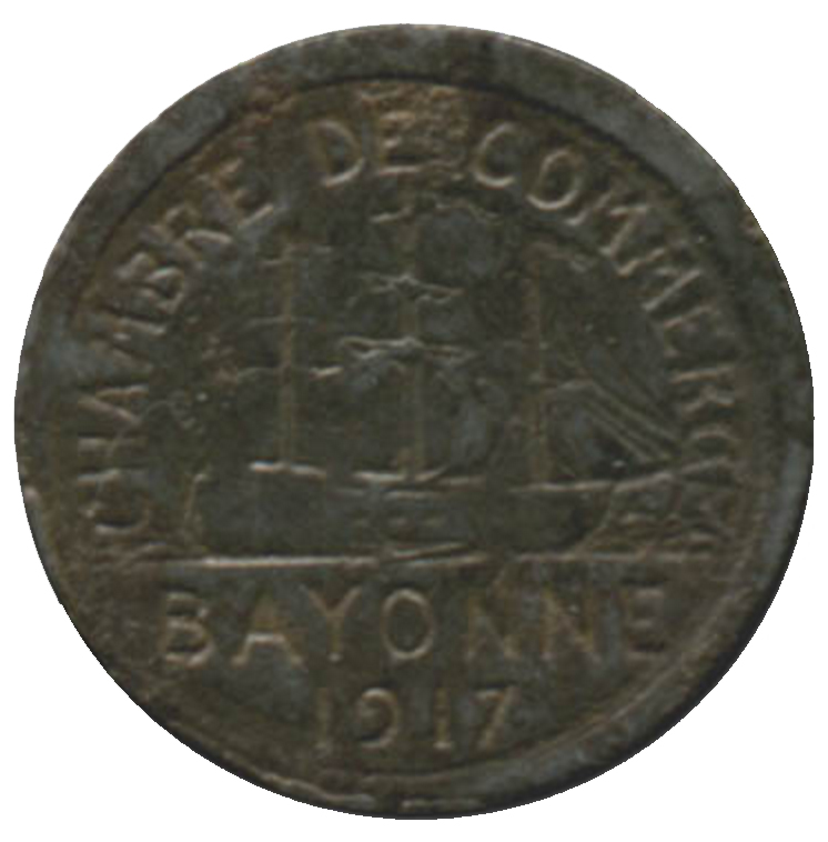 5 centimes chambre de commerce 1917 bayonne 64 for Chambre de commerce polonaise en france
