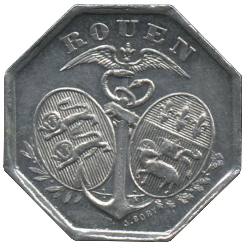 10 centimes chambre de commerce de rouen [76] - france - villes et