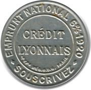 10 centimes Crédit lyonnais – avers