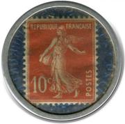 10 centimes Crédit lyonnais – revers