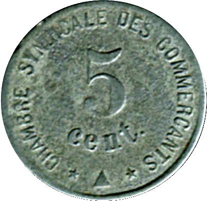 5 centimes chambre syndicale des commer ants perpignan 66 france notgeld numista - Chambre syndicale des eaux minerales ...