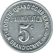 5 centimes - Société Grand'Combienne d'Alimentation - La Grand'Combe [30] – avers