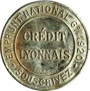 5 centimes - Crédit lyonnais – avers